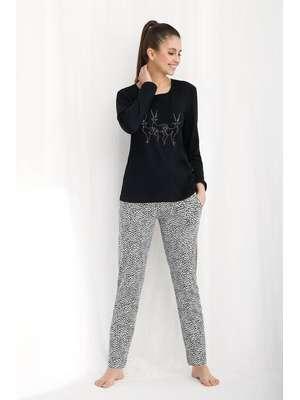 87e4fc264d5715 Piżamy damskie bawełniane z długim rękawem- sklep internetowy ...