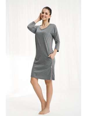 ff9ef486be7b5a Koszule nocne bawełniane z długim rękawem - sklep z Bliskociala 1