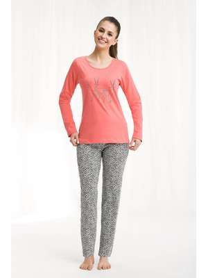 69e42ee770d8e0 Piżamy damskie bawełniane z długim rękawem- sklep internetowy ...